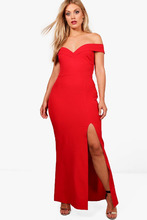 Boohoo | Plus Off The Shoulder Bodycon Maxi Dress | Clouty