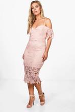 Boohoo | Plus Corded Lace Midi Dress | Clouty