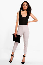 Boohoo | Petite Turn Up Tailored Woven Trousers | Clouty