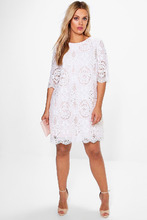 Boohoo | Plus All Over Lace Shift Dress | Clouty