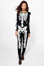 Boohoo | Tall Halloween Skeleton Jumpsuit | Clouty