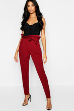 Boohoo   Tall Paperbag Waist Trousers   Clouty