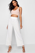 Boohoo | Tall Contrast Cuff Pinstripe Trousers | Clouty
