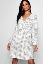 Boohoo | Tall Polka Dot Wrap Dress | Clouty