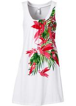 Bonprix | Пляжное платье А-силуэта (белый) | Clouty