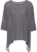 Bonprix | Блуза с удлиненными боками (дымчато-серый с узором) | Clouty
