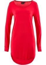 Bonprix | Удлиненная футболка с длинными рукавами (красный) | Clouty