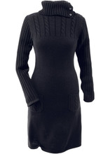 Bonprix   Вязаное платье (черный)   Clouty