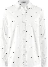 Bonprix | Блузка (кремовый/темно-синий с узором) | Clouty