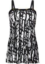 Bonprix | Купальный костюм-танкини (2 изделия) (черный/белый) | Clouty
