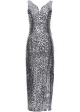 Bonprix | Платье с пайетками (серебристый) | Clouty