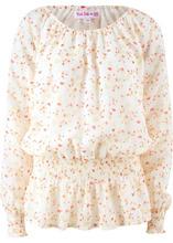 Bonprix | Блузка на одно плечо, длинный рукав − дизайн от Maite Kelly (кремовый в цветочек) | Clouty
