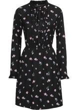 Bonprix | Платье с принтом (черный в цветочек) | Clouty