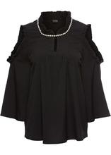 Bonprix | Блузка с бисером (черный) | Clouty