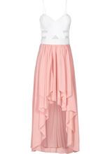 Bonprix | Платье с сердцеобразным вырезом (белый/розовый) | Clouty