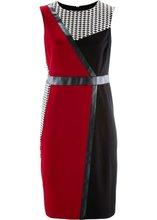 Bonprix | Трикотажное платье (черный/темно-красный/белый) | Clouty