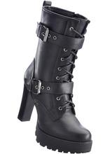 Bonprix | Ботильоны на шнуровке (черный) | Clouty