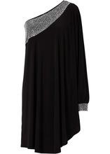 Bonprix | Платье с одним рукавом (черный) | Clouty