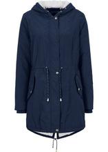 Bonprix | Куртка-парка с подкладкой из плюшевого флиса (темно-синий) | Clouty