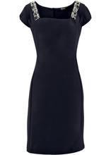 Bonprix | Платье-футляр ПРЕМИУМ со стразами (черный) | Clouty