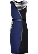 Bonprix | Трикотажное платье (черный/ночная синь/белый) | Clouty
