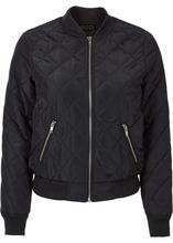 Bonprix | Куртка со стеганым узором (черный) | Clouty