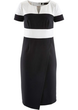 Bonprix | Платье-футляр (черный/кремовый) | Clouty