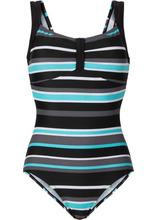 Bonprix | Цельный купальник (черный/белый/серый) | Clouty
