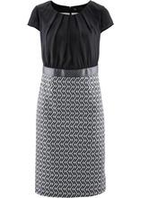 Bonprix | Платье (черный/цвет белой шерсти) | Clouty