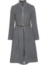 Bonprix | Пальто с застежкой-молнией (темно-серый) | Clouty