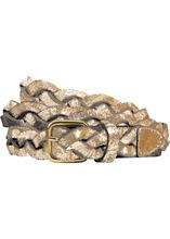 Bonprix | Плетеный кожаный ремень (золотистый металлик) | Clouty