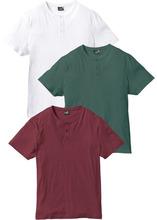 Bonprix   Футболка Regular Fit (3 шт.) (бордовый + зеленый + белый)   Clouty