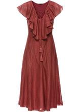 Bonprix   Платье с воланами (бордово-коричневый)   Clouty