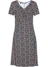 Bonprix   Платье с коротким рукавом (темно-синий в цветочек)   Clouty