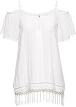 Bonprix | Блузка с вырезами на плечах (кремовый) | Clouty