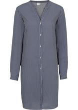 Bonprix | Длинная блузка в полоску (цвет белой шерсти/темно-синий в полоску) | Clouty