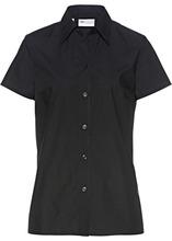 Bonprix | Однотонная блузка с короткими рукавами (черный) | Clouty