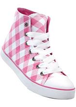 Bonprix | Высокие кеды (белый/ярко-розовый) | Clouty