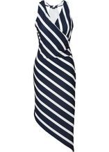 Bonprix | Асимметричное платье (темно-синий/белый в полоску) | Clouty