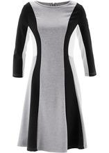 Bonprix | Римское платье от дизайнера Maite Kelly (серый меланж/черный/цвет белой шерсти) | Clouty