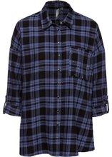Bonprix | Блузка с заклепками (темно-синий/черный в клетку) | Clouty