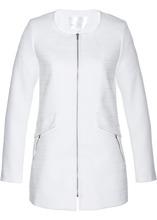 Bonprix | Длинный пиджак из букле (белый) | Clouty