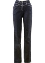 Bonprix | Комфортные джинсы стретч, низкий рост (K) (черный «потертый») | Clouty
