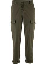 Bonprix | Эластичные брюки-карго (темно-оливковый) | Clouty