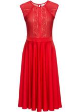 Bonprix | Платье с кружевом (ярко-красный) | Clouty