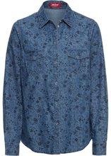 Bonprix | Блузка с принтом (синий с рисунком) | Clouty