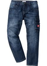 Bonprix   Джинсы Regular Fit в потертом стиле, cредний рост (N) (темно-синий)   Clouty