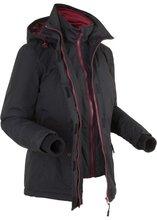 Bonprix | Куртка дизайна 2 в 1 на ватной подкладке (черный) | Clouty