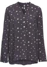 Bonprix | Блузка со стразами (темно-серый/серебристый с принтом) | Clouty