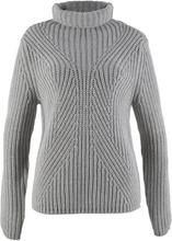 Bonprix | Пуловер с высоким воротником (светло-серый меланж) | Clouty